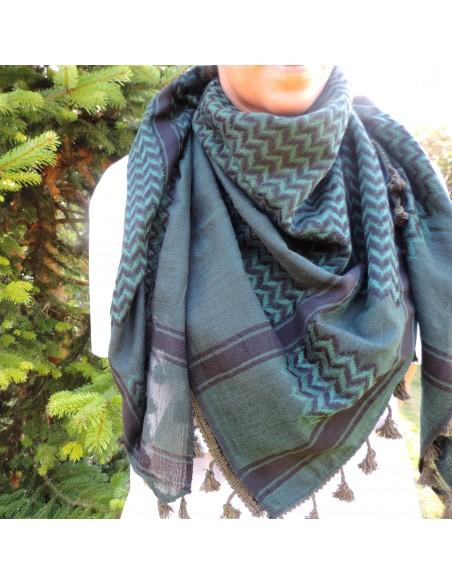 Pañuelo palestino auténtico (Kufiya) verde oscuro