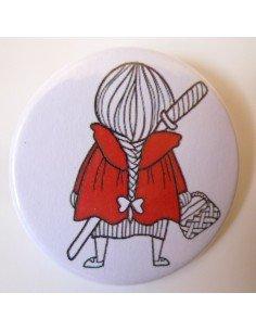 Chapa caperucita roja con katana (Pikara)