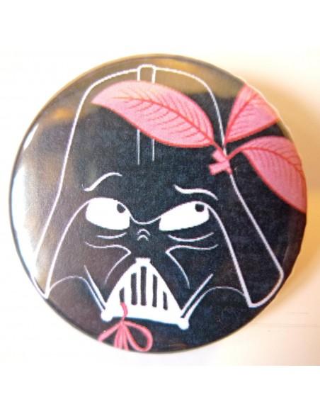 Chapa Dark Vador con cinta rosa