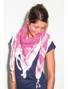 Pañuelo palestino auténtico (Kufiya) Rojo