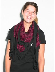 Pañuelo palestino (Kufiya) rojo y negro