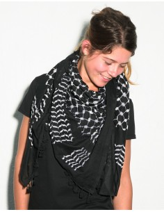 Pañuelo palestino auténtico (Kufiya) - negro