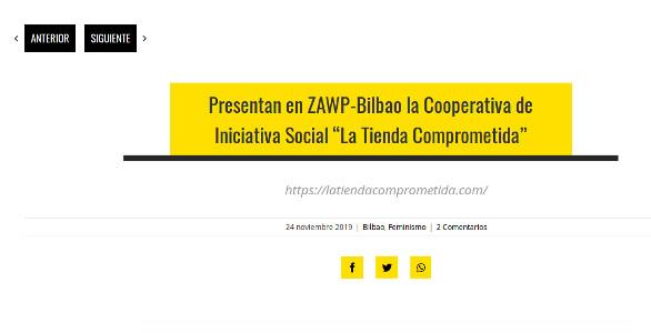 Artículo de Ecuador Etxea sobre la cooperativa