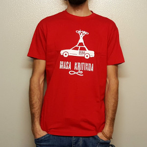 Camiseta ecológica con serigrafía ética para colectivo