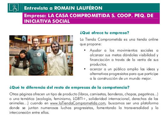 Entrevista a Romain Lauféron, de la cooperativa de Iniciativa Social: La Casa Comprometida