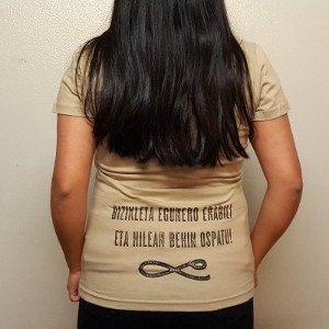Camiseta orgánica con serigrafía ética